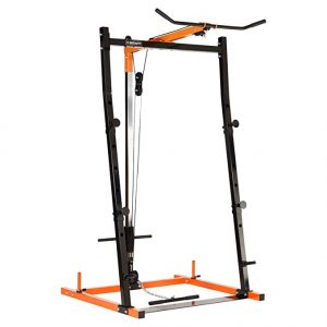 Mirafit Barbell Squat Rack With Lat Pulldown Multi Gym Station
